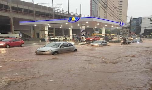 Centro de Lafaiete em período chuvoso/ Arquivo