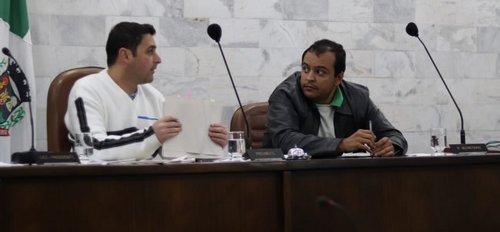 Fernando Bandeira e João Paulo - Ex e atual presidente da Câmara