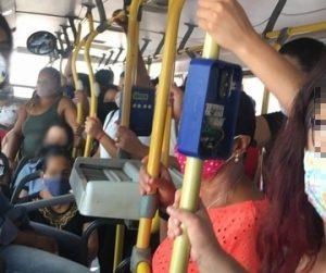 Ônibus cheios em plena pandemia são alvos de reclamação/Arquivo