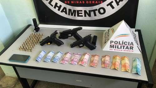 Dinheiro,armas e munições foram apreendidos