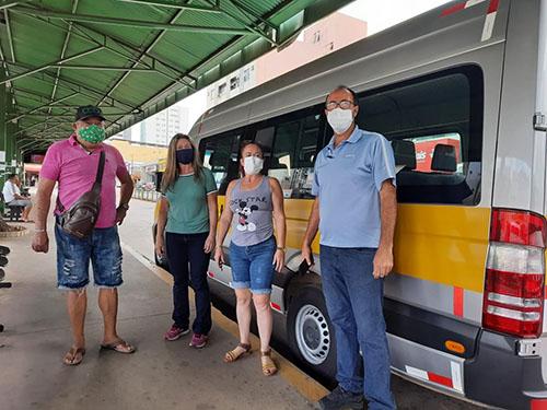 Vereador Renato Pelé esteve no terminal para ver como estava o funcionamento do serviço