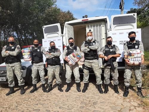 Iniciativa dos policiais penais ajudou população carente