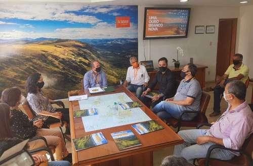 Reunião na prefeitura de Ouro Branco