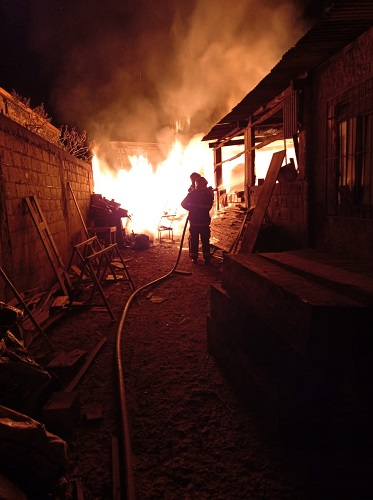 Incêndio foi considerado de grandes proporções