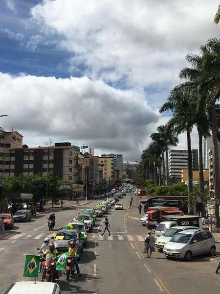 Carreata teve grande adesão na cidade/Foto/Repro.Redes Sociais