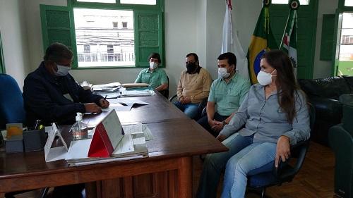 Reunião contou com representantes do Poder Público e da empresa