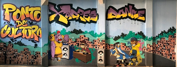 Grafite inaugurado no evento