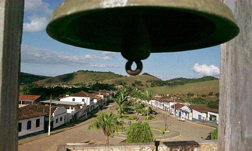 Vista de Santana dos Montes do alto da torre da igreja. Foto: Renato Weil/EM/D.A Press