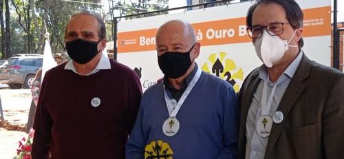 Hélio Campos, Angelo Oswaldo e Glaycon Franco no lançamento do projeto em Ouro Branco