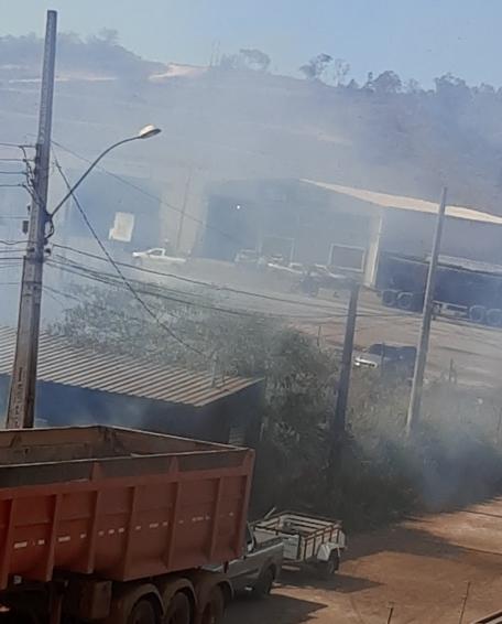 Fumaça é intensa na região