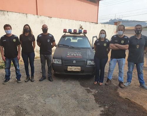 Equipe da Polícia Civil responsável pela investigação