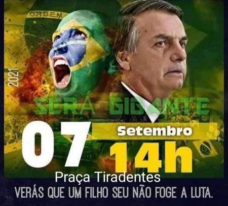 Manifestação pró Bolsonaro acontecerá em Lafaiete
