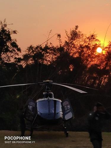 Helicóptero foi usado na ação
