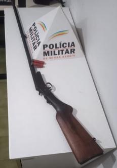 Arma apreendida na operação