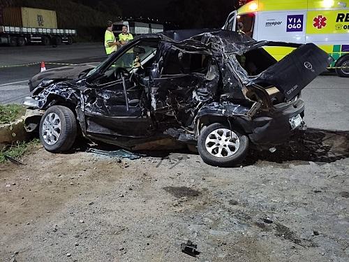 Grave acidente deixou duas vítimas