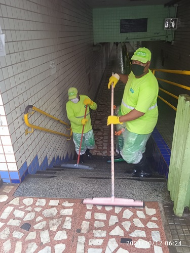 Passagem foi limpa em ação da Prefeitura